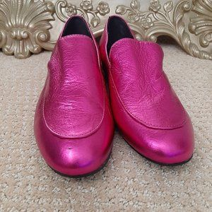 Kenneth Cole Metallic Pink Leather Loafer Size 6